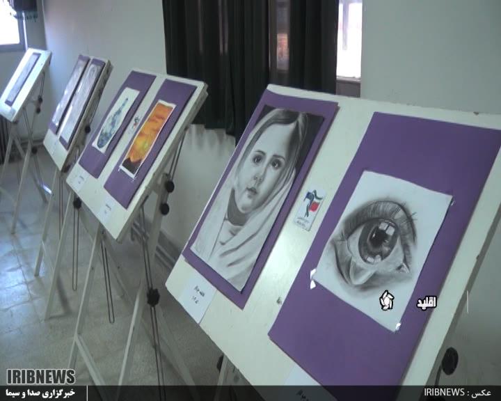 برپایی نمایشگاه نقاشی در اقلید+تصاویر
