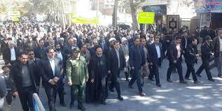 راهپیمایی مردم اقلید در محکومیت اغتشاشات و فتنه اشرار