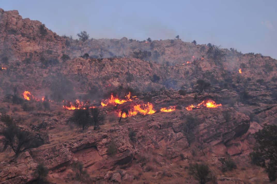مهار آتش در ارتفاعات اقلید