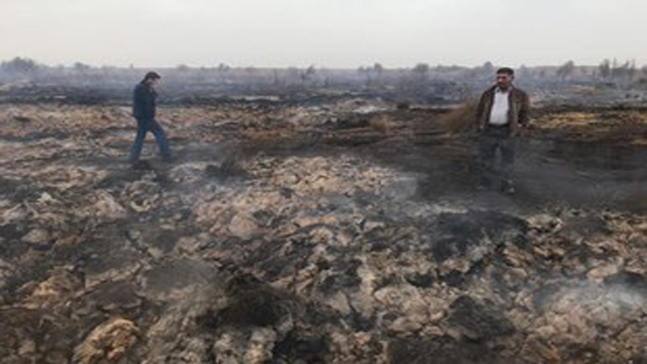 مهار کامل آتش سوزی در عرصههای طبیعی بیشه آسپاس اقلید
