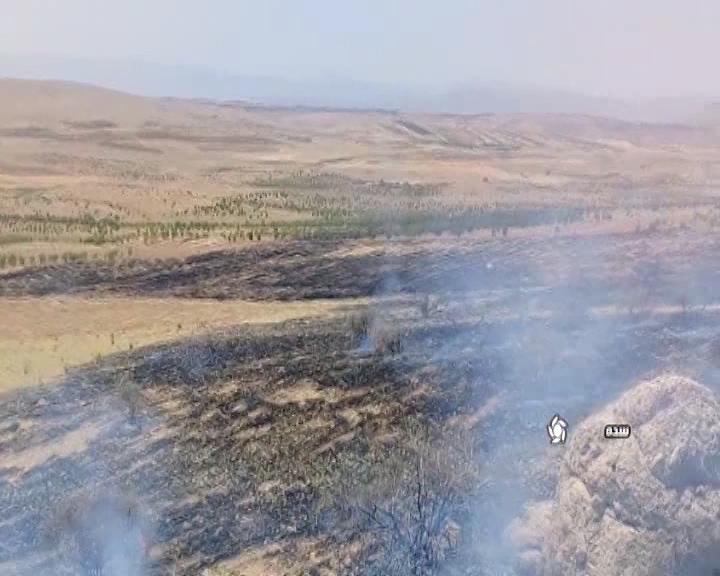 مهار آتش در مراتع شهر سده