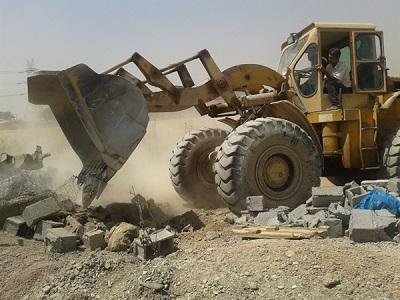 پرکردن چاههای غیرمجاز در اقلید