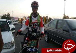 رکابزنی دوچرخه سوار مازندرانی به اقلید
