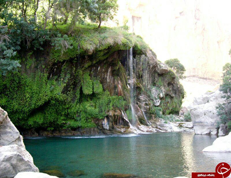 جلوه ای زیبا از آبشار تنگ براق + تصاویر