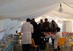 برپایی بیمارستان صحرایی در اقلید