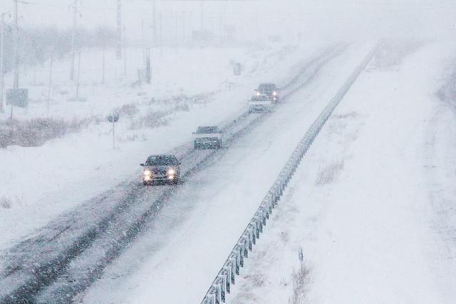 تداوم بارش برف در شهرستان اقلید
