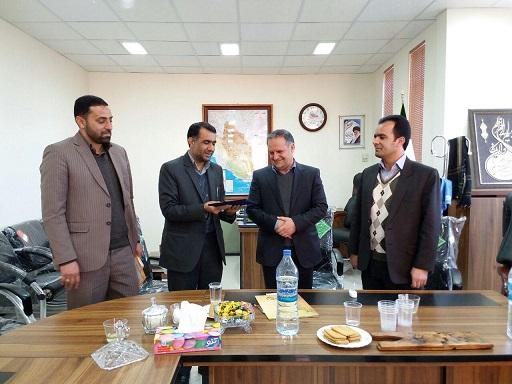 مراسم توديع و معارفه رئيس اداره تعاون، کار و رفاه اجتماعي شهرستان اقليد