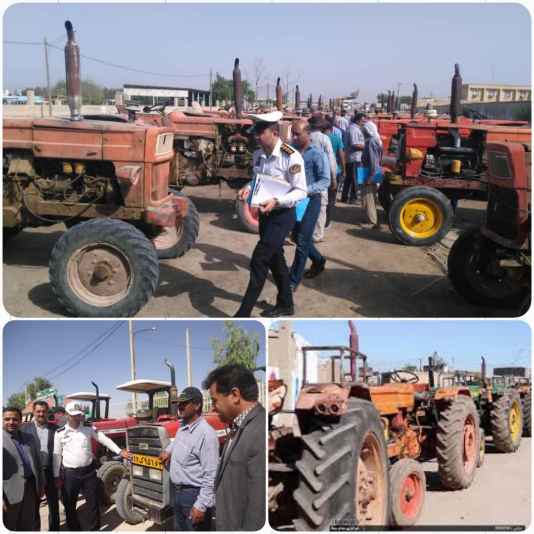 اجرای طرح پلاک گذاری ماشین آلات کشاورزی در اقلید