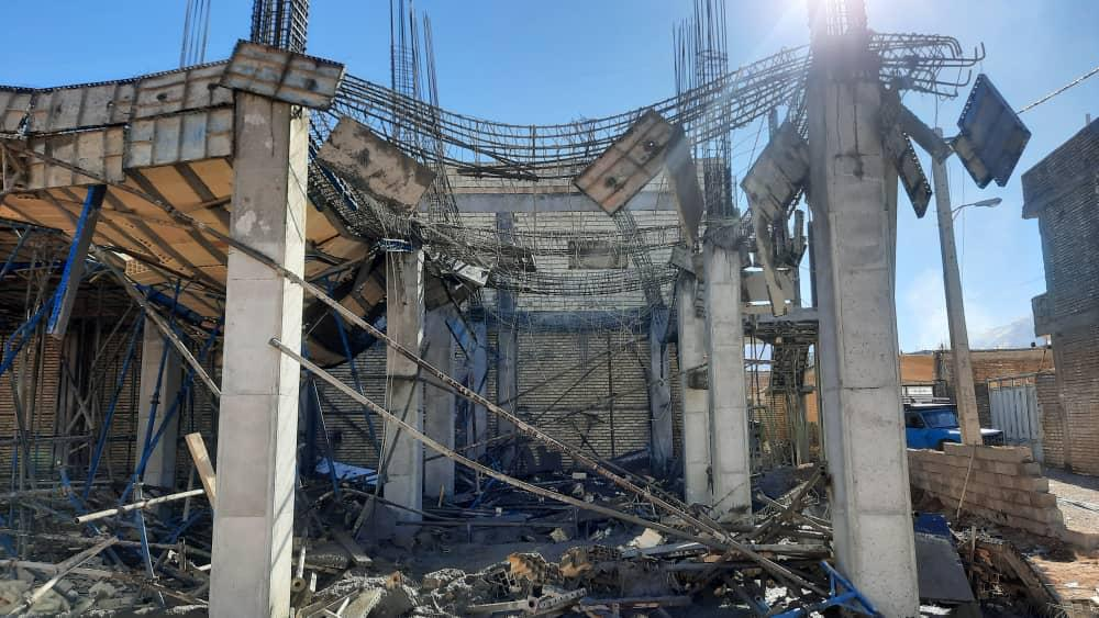 یک کشته در ریزش سقف ساختمان در حال ساخت