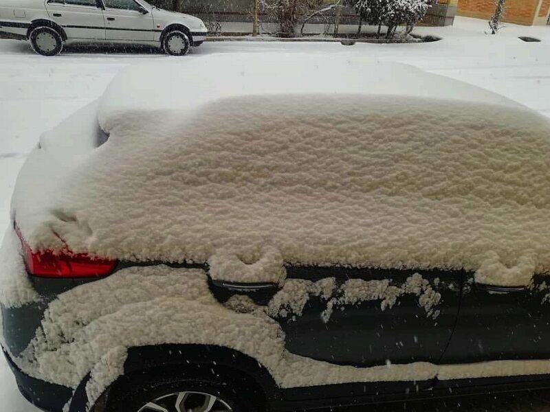 بارش بیش از ۲۰ سانتیمتر برف در اقلید