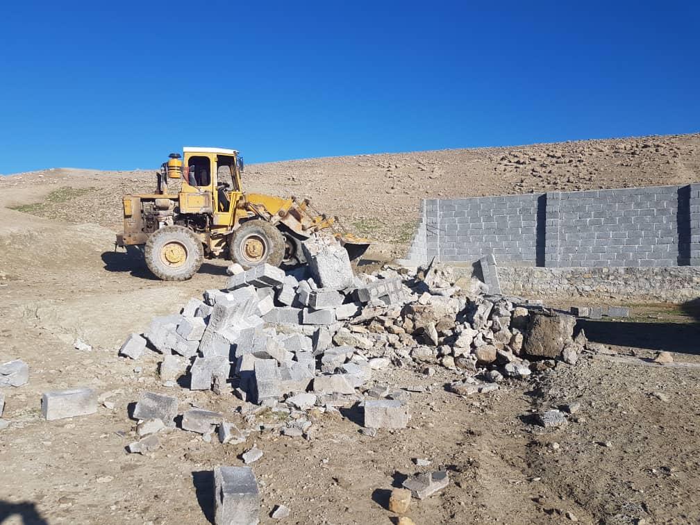 تخریب ساخت و ساز غیر قانونی در اقلید