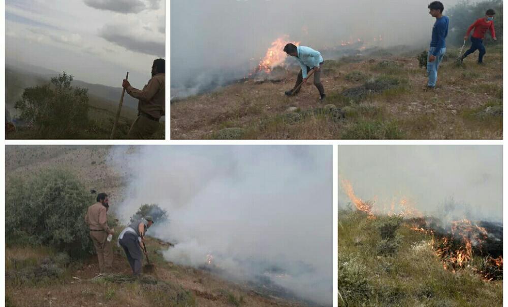 مهار آتش سوزی در مراتع سده