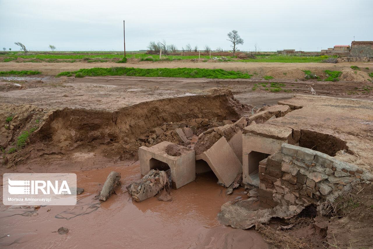 بارندگی به ۴۰ پل در اقلید فارس خسارت زد